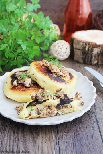 Rezept Kartoffeltaler mit Pilzfüllung