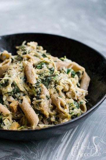 Rezept Käse-Sauerkraut-Nudeln mit Spinat