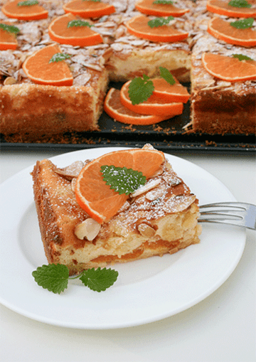 Rezept Käseblechkuchen mit Mandarinen