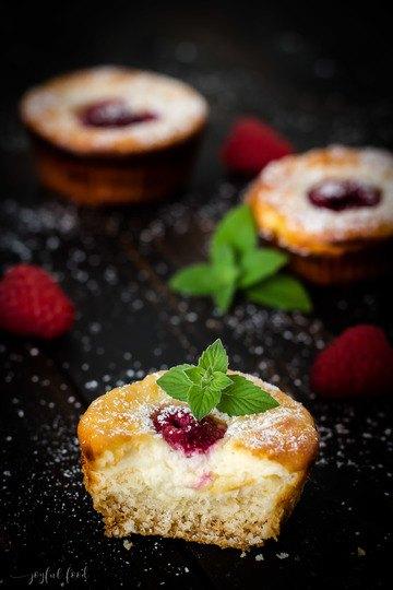 Rezept Käsekuchenmuffins mit Himbeeren