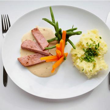 Rezept Kasseler auf Weißweinsauce