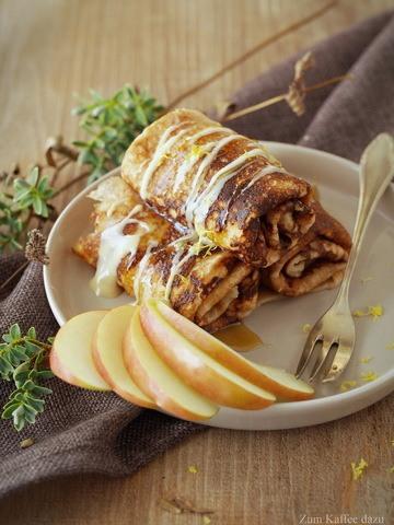 Rezept Kastanien-Crêpes mit Honig-Ricotta und Apfel