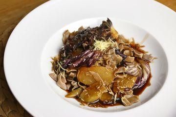 Rezept Kastanienmehl-Pasta mit Schwarzwurzel und Radicchio