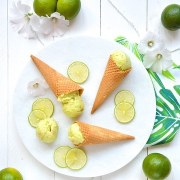 Rezept Key Lime Pie Ice Cream