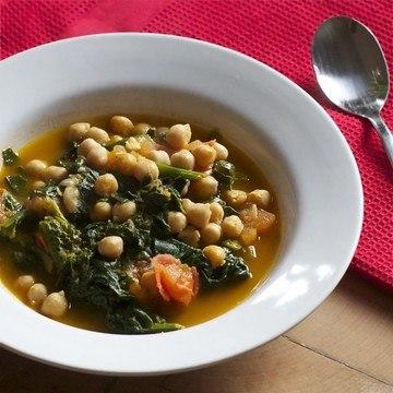 Rezept Kichererbsen Curry mit Spinat