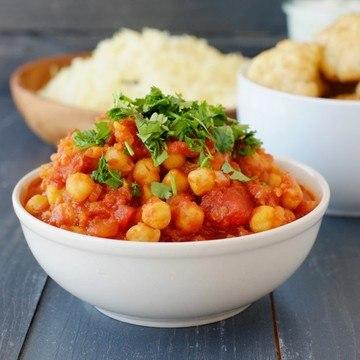 Rezept Kichererbsen in Tomatensoße
