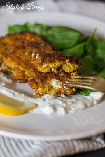 Rezept Kichererbsen-Karotten-Bratlinge mit Feta