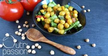 Rezept Kichererbsen mit Salat