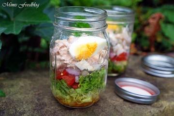 Rezept Kichererbsen-Schichtsalat mit Thunfisch