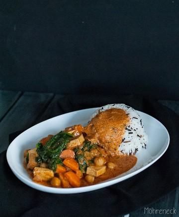 Rezept Kichererbsen-Spinat-Curry