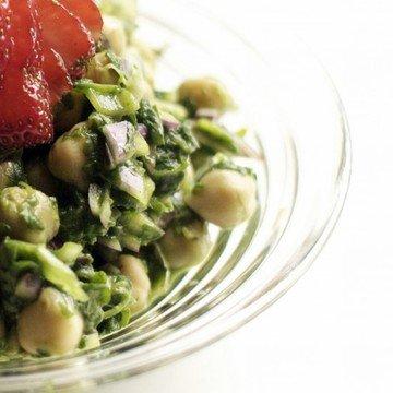 Rezept Kichererbsen-Spinat Salat