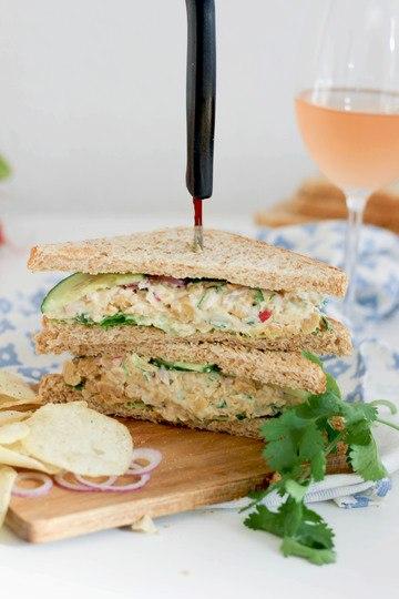 Rezept Kichererbsensandwich mit Gorgonzola