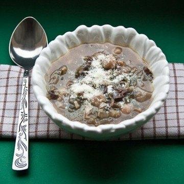 Rezept Kichererbsensuppe mit Radicchio und Prosciutto