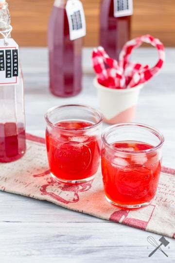 Rezept Kirsch Erdbeer Sirup