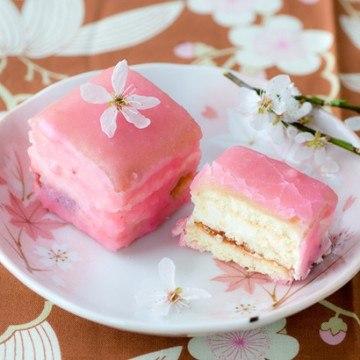 Rezept Kirschblüten (Sakura) Petits Fours