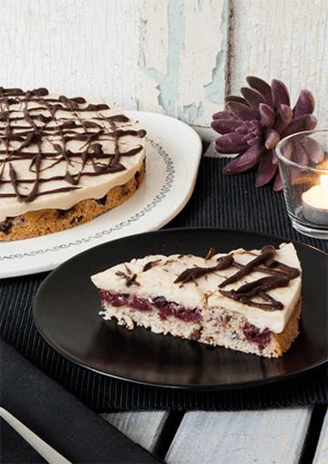 Rezept Kirschkuchen mit Marzipan – vegan