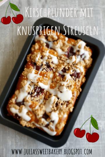 Rezept Kirschplunder mit knusprigen Streuseln