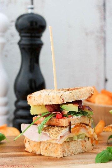Rezept Klassisches Club Sandwich mit Chips