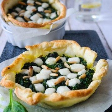 Rezept Kleine Spinat-Ziegenkäse-Tartes