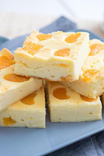 Rezept Kleiner Quark Käsekuchen mit Mandarinen