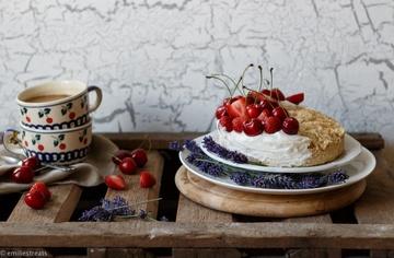 Rezept Kleines Kokosküchlein mit Sommerfrüchten