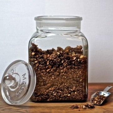 Rezept Knuspermüsli mit Nüssen, Kakao Nibs und Schokolade