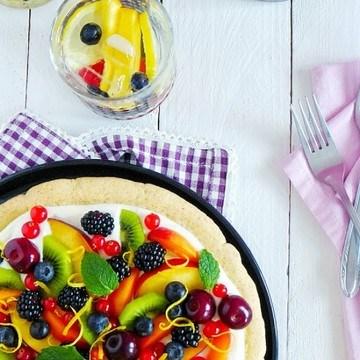Rezept Knusprige Früchte Pizza