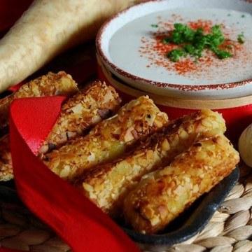Rezept Knusprige Pastinaken-Kroketten mit gesunder Aioli