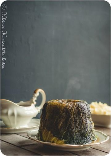 Rezept Kohlpudding mit Pastinaken-Kartoffelpüree