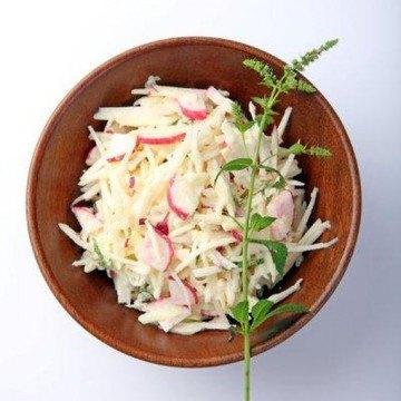 Rezept Kohlrabi-Apfel-Radieschen Salat
