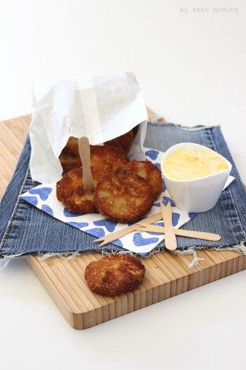 Rezept Kohlrabischnitzelchen mit Currymayonnaise