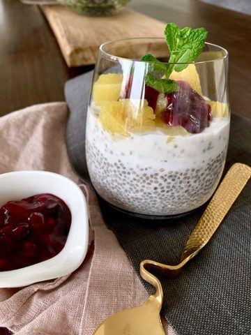 Rezept Kokos-Chia-Pudding mit Ananas