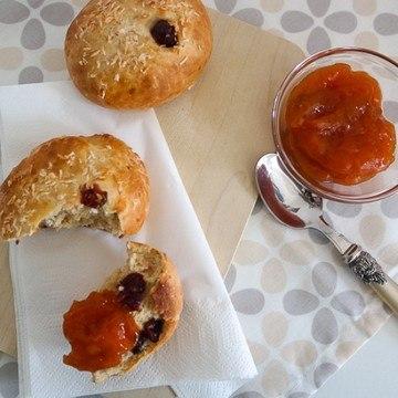 Rezept Kokos-Dinkelbrötchen mit Cranberries
