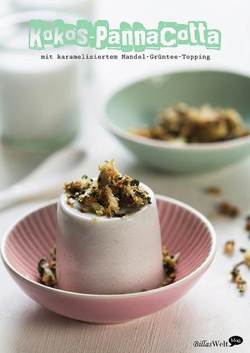 Rezept Kokos-Pannacotta mit Reistee-Topping