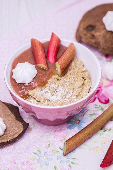 Rezept Kokos-Quinoa mit Rhabarber-Kompott