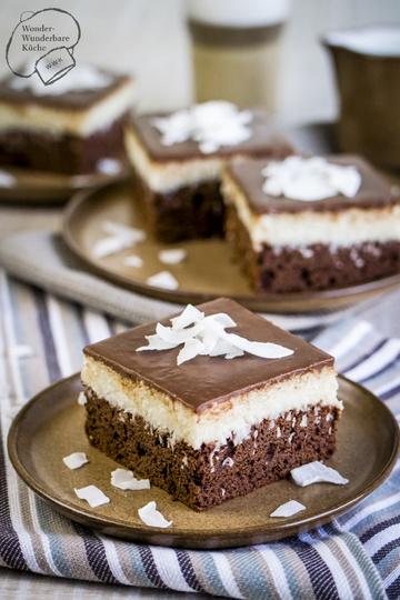 Rezept Kokos-Schokoladen-Kuchen vom Blech