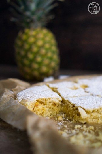 Rezept Kokosblondie mit Grillananas
