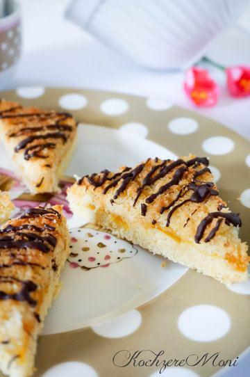 Rezept Kokosecken mit Maracujakonfitüre