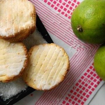 Rezept Kokosmehl-Kekse mit Limetten-Glasur
