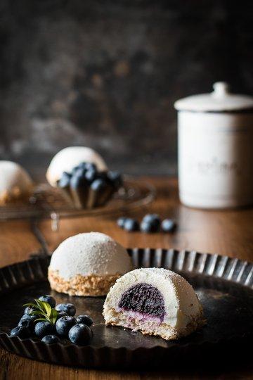 Rezept Kokostörtchen mit Heidelbeerkern