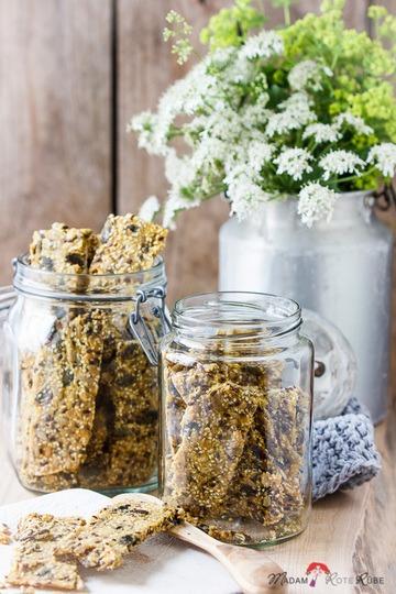 Rezept Körner-Knäckebrot mit Maismehl oder skandinavisches Korn-Knäckebröd Majsmjöl