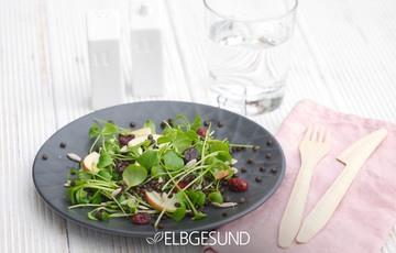 Rezept Köstlicher Apfel-Linsen-Salat mit himmlischem Dressing!