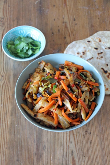 Rezept Kotthu - Brotsalat aus Sri Lanka