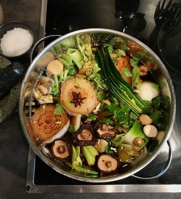 Rezept Kräftige Gemüsebrühe für japanische Suppen