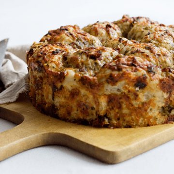 Rezept Kräuter-Käse-Pizzabrot