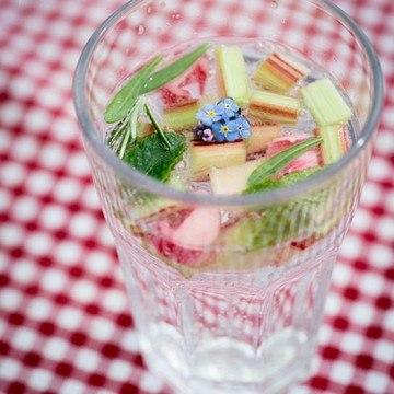 Rezept Kräuter-Rhabarber-Limo