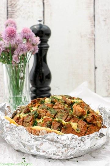 Rezept Kräuter-Zupfbrot mit Käse für den Grill