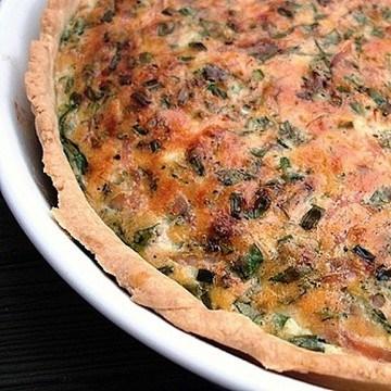 Rezept Kräuterquiche mit Käse und Schinken