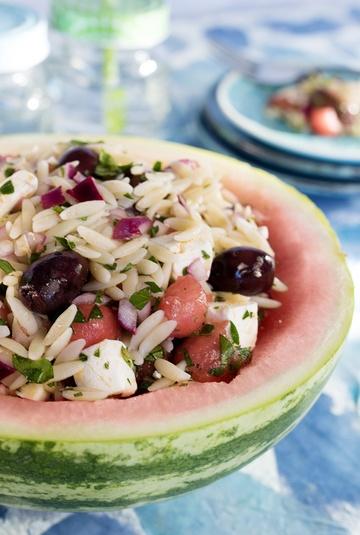 Rezept Kritharáki-Nudelsalat mit Wassermelone