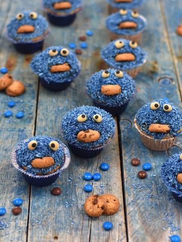 Rezept Krümelmonster-Muffins für kleine & große Krümelmonster